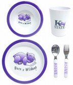 Kansas State Wildcats 5 Piece Children's Dinner Set