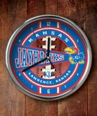Kansas Jayhawks Chrome Clock