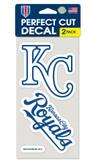 Kansas City Royals Set of 2 Die Cut Decals