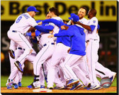 Kansas City Royals Celebrate Winning the 2014 American League Wild Card Game 16x20 Stretched Canvas AARG197-248
