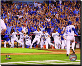 Kansas City Royals Celebrate Winning the 2014 American League Wild Card Game 16x20 Stretched Canvas