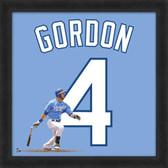 Kansas City Royals Alex Gordon 20x20 Framed Uniframe Away Jersey Photo