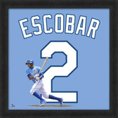 Kansas City Royals Alcides Escobar 20x20 Framed Uniframe Away Jersey Photo