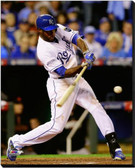 Kansas City Royals 40x50 Stretched Canvas Lorenzo Cain Game 6 of the 2014 World Series Action