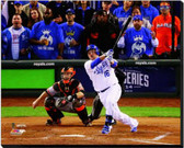 Kansas City Royals 16x20 Stretched Canvas Billy Butler Game 6 of the 2014 World Series Action