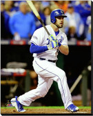 Kansas City Royals 16x20 Stretched Canvas Mike Moustakas Game 6 of the 2014 World Series Action