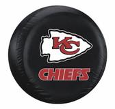 Kansas City Chiefs Black Tire Cover