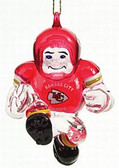 "Kansas City Chiefs 3"" Crystal Halfback Ornament"