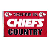 Kansas City Chiefs 3 Ft. X 5 Ft. Flag W/Grommets 94125B