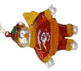 "Kansas City Chiefs 2 3/4"" Crystal Snowman Ornament"
