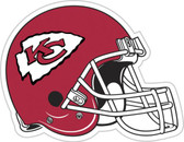 "Kansas City Chiefs 12"" Vinyl Magnet Set Of 2"