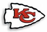 "Kansas City Chiefs 12"" Right Logo Car Magnet"