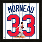 Justin Morneau Minnesota Twins 20x20 Framed Uniframe Jersey Photo