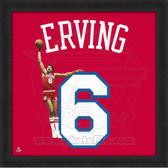 Julius Erving Philadelphia 76ers 20x20 Framed Uniframe Jersey Photo