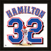 Josh Hamilton Texas Rangers 20x20 Framed Uniframe Jersey Photo