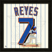 Jose Reyes New York Mets 20x20 Framed Uniframe Jersey Photo