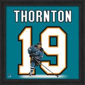 Joe Thornton San Jose Sharks 20x20 Framed Uniframe Jersey Photo