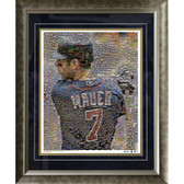 Joe Mauer Minnesota Twins Mosaic Framed 16x20 Photo (Ltd of 1000)