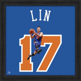 Jeremy Lin New York Knicks 20x20 Framed Uniframe Jersey Photo