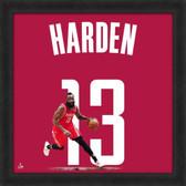 James Harden Houston Rockets 20 x 20 Framed Uniframe Jersey Photo