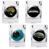 Jacksonville Jaguars 4pc Collector's Shot Glass Set GSSC4PK2029-35