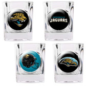 Jacksonville Jaguars 4pc Collector's Shot Glass Set