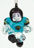 """Jacksonville Jaguars 3"""" Crystal Halfback Ornament"""