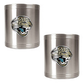 Jacksonville Jaguars 2pc Stainless Steel Can Holder Set