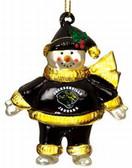 "Jacksonville Jaguars 2 3/4"" Crystal Snowman Ornament"