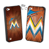 Iphone 4/4S MLB Miami Marlins Large Logo Lenticular Case