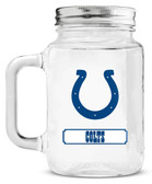 Indianapolis Colts Mason Jar Glass With Lid