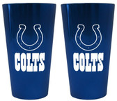 Indianapolis Colts Lusterware Pint Glass - Set of 2