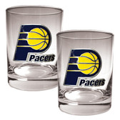 Indiana Pacers Rocks Glass Set