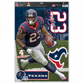 """Houston Texans Arian Foster 11""""x17"""" Multi-Use Decal Sheet"""