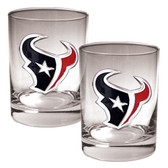 Houston Texans 2pc Rocks Glass Set