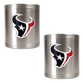 Houston Texans 2pc Stainless Steel Can Holder Set