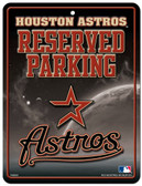 Houston Astros Metal Parking Sign