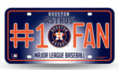 Houston Astros License Plate - #1 Fan