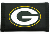 Green Bay Packers Nylon Trifold Wallet