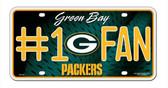 Green Bay Packers License Plate - #1 Fan