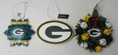 Green Bay Packers 3 Piece Christmas Ornament Box Set