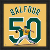 Grant Balfour Oakland Athletics 20x20 Framed Uniframe Jersey Photo