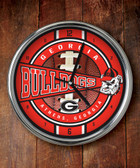 Georgia Bulldogs Chrome Clock