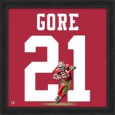 Frank Gore Minnesota Vikings 20x20 Framed Uniframe Jersey Photo