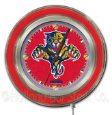 Florida Panthers Neon Clock