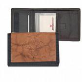 Florida Panthers Leather/Nylon Embossed Tri-Fold Wallet