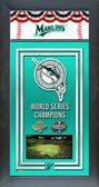 Florida Marlins Framed Championship Banner