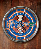 Florida Gators Chrome Clock