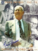 Ernie Harwell Signed Tigers Official Scorecard
