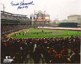 Ernie Harwell Signed 8x10 Photo of Comerica Park with HOF 81 Inscription